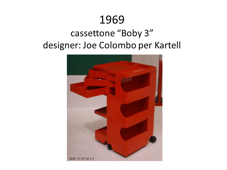 1969 cassettone Boby 3 designer: Joe Colombo per Kartell Saikl: CC BY-SA 3.0