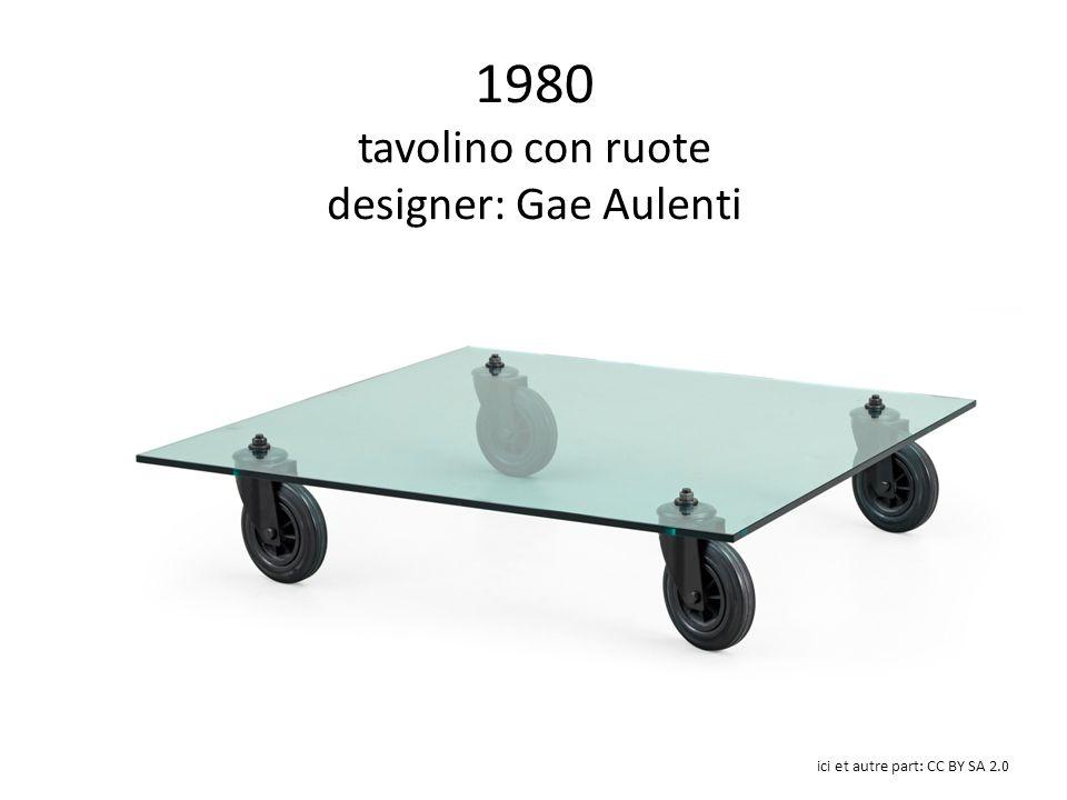 1980 tavolino con ruote designer: Gae Aulenti ici et autre part: CC BY SA 2.0