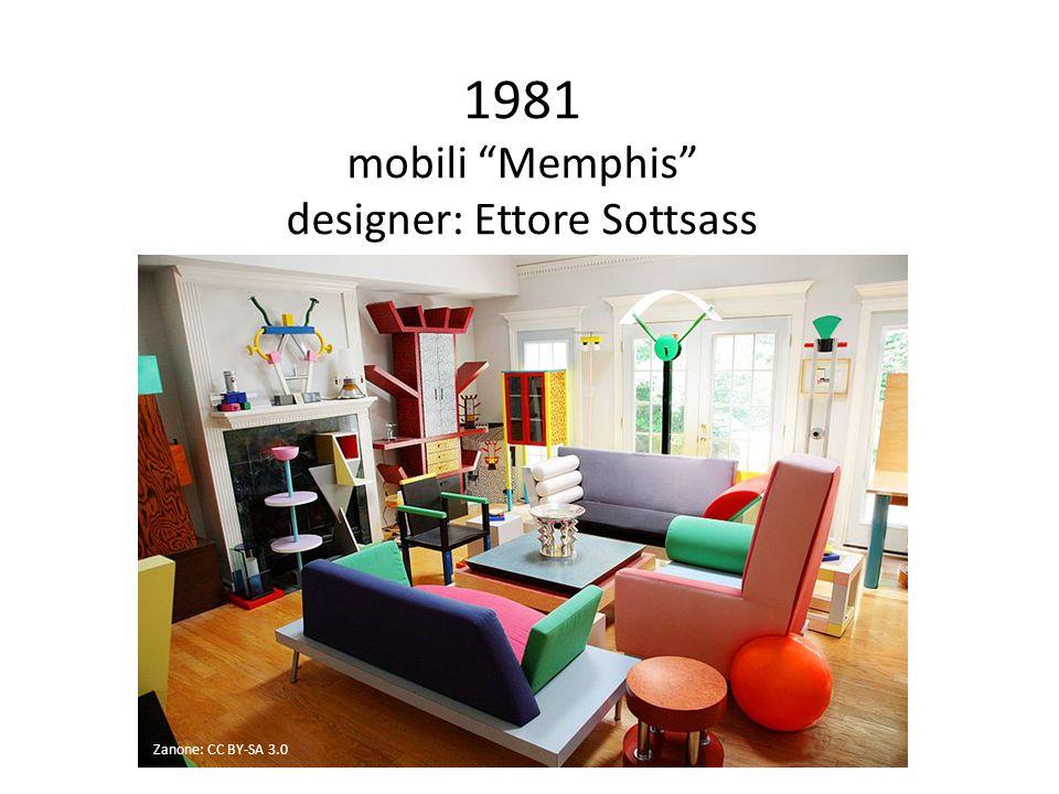 1981 mobili Memphis designer: Ettore Sottsass Zanone: CC BY-SA 3.0