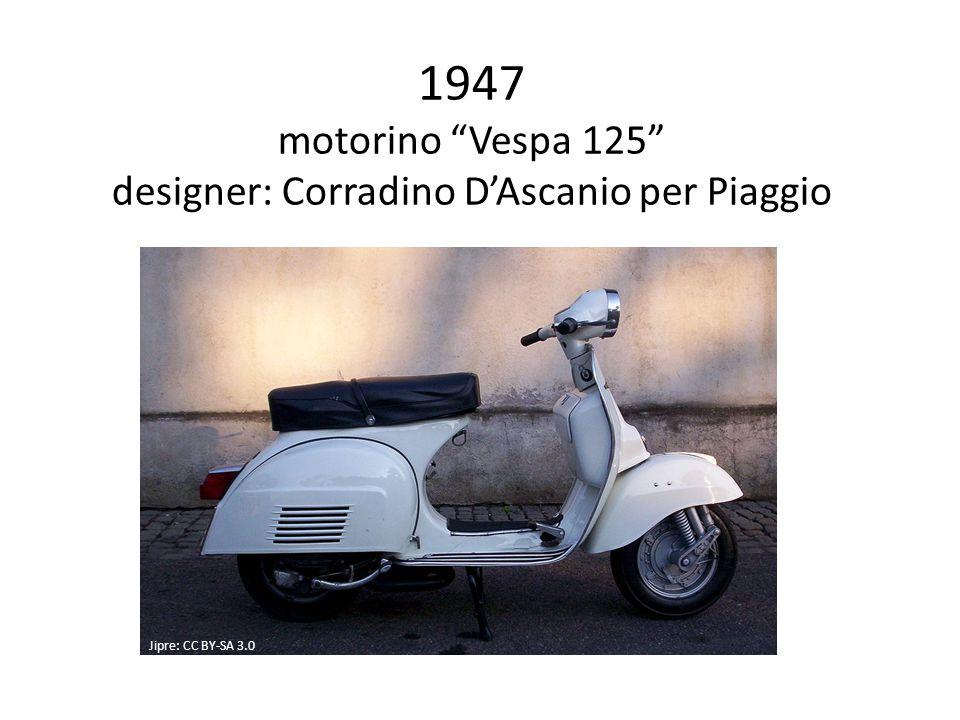 1947 motorino Vespa 125 designer: Corradino D'Ascanio per Piaggio Jipre: CC BY-SA 3.0