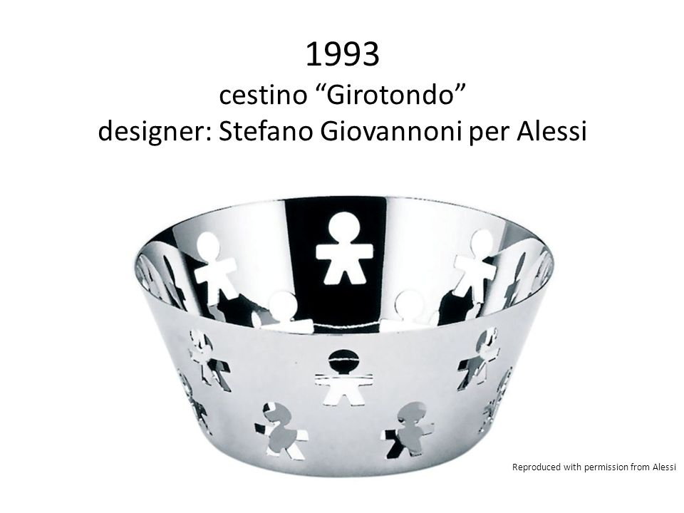 "1993 cestino ""Girotondo"" designer: Stefano Giovannoni per Alessi Reproduced with permission from Alessi"