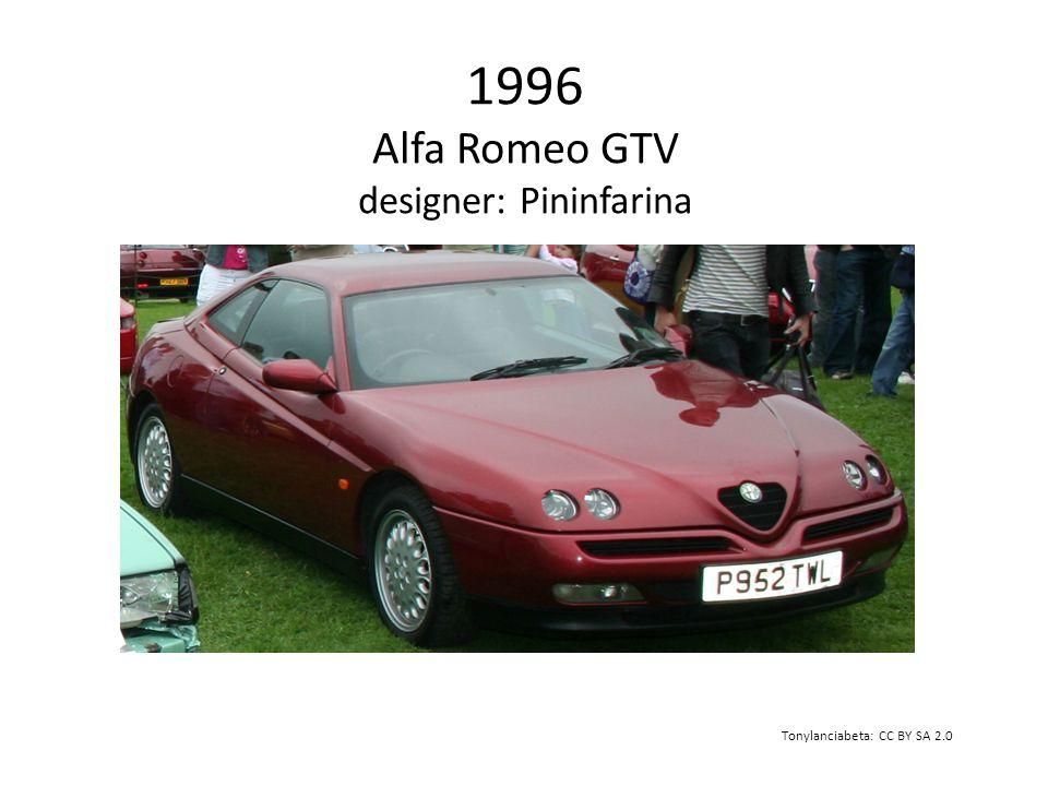 1996 Alfa Romeo GTV designer: Pininfarina Tonylanciabeta: CC BY SA 2.0