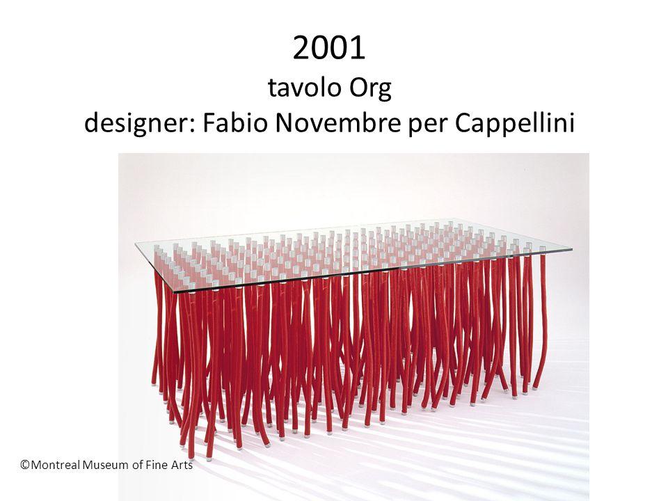 2001 tavolo Org designer: Fabio Novembre per Cappellini ©Montreal Museum of Fine Arts