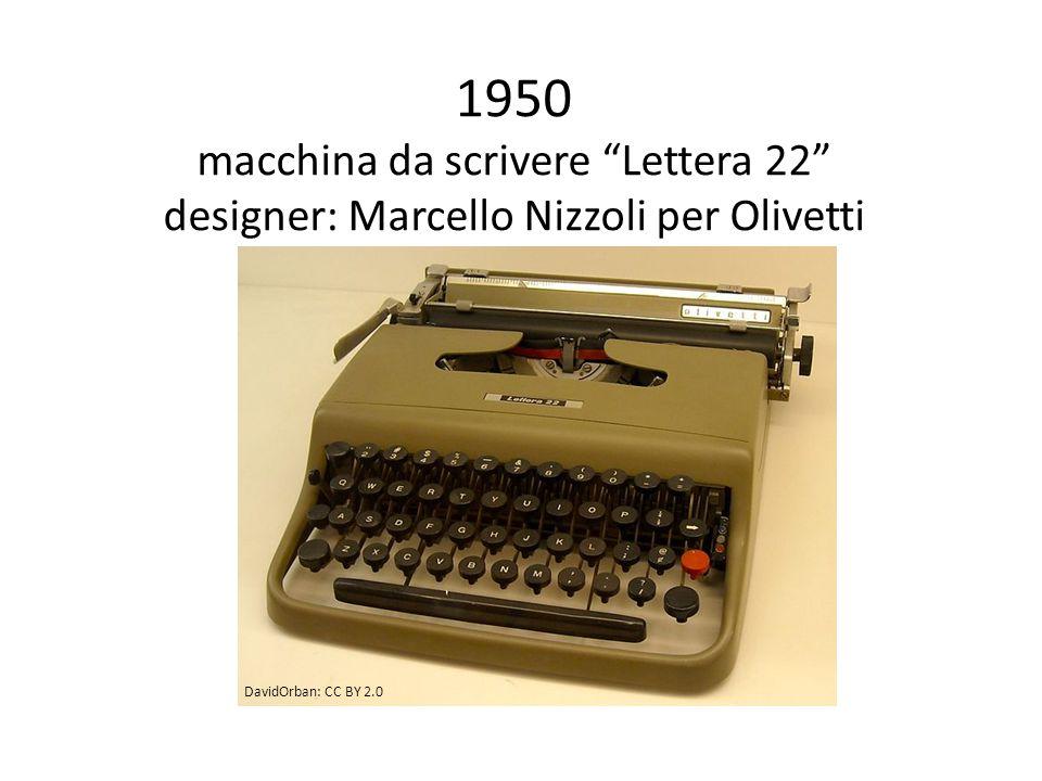 1950 macchina da scrivere Lettera 22 designer: Marcello Nizzoli per Olivetti DavidOrban: CC BY 2.0