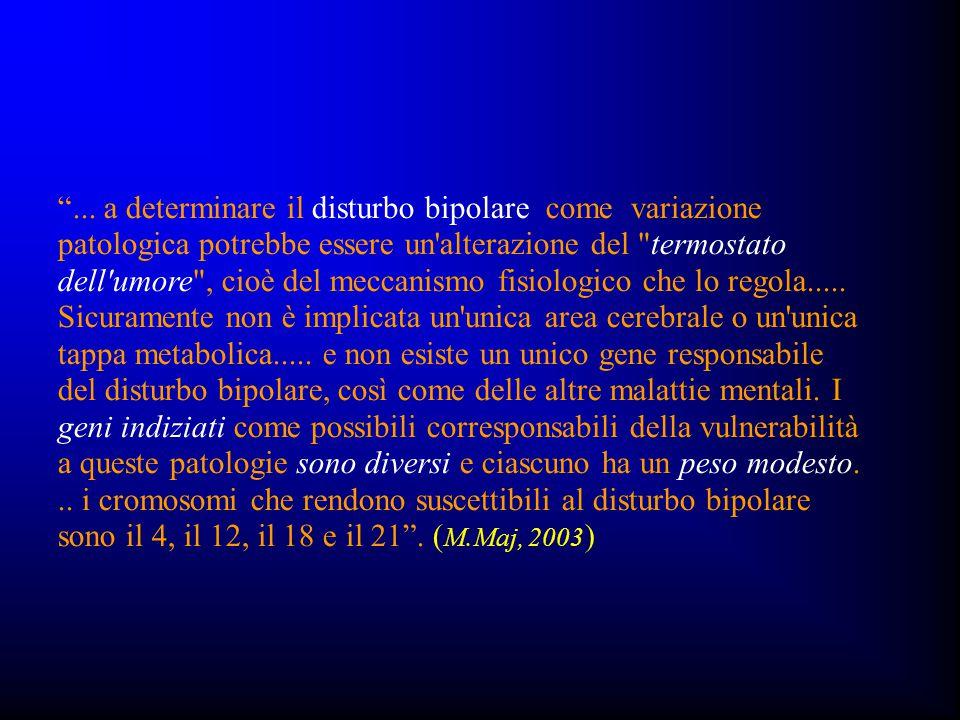 """""""... a determinare il disturbo bipolare come variazione patologica potrebbe essere un'alterazione del"""