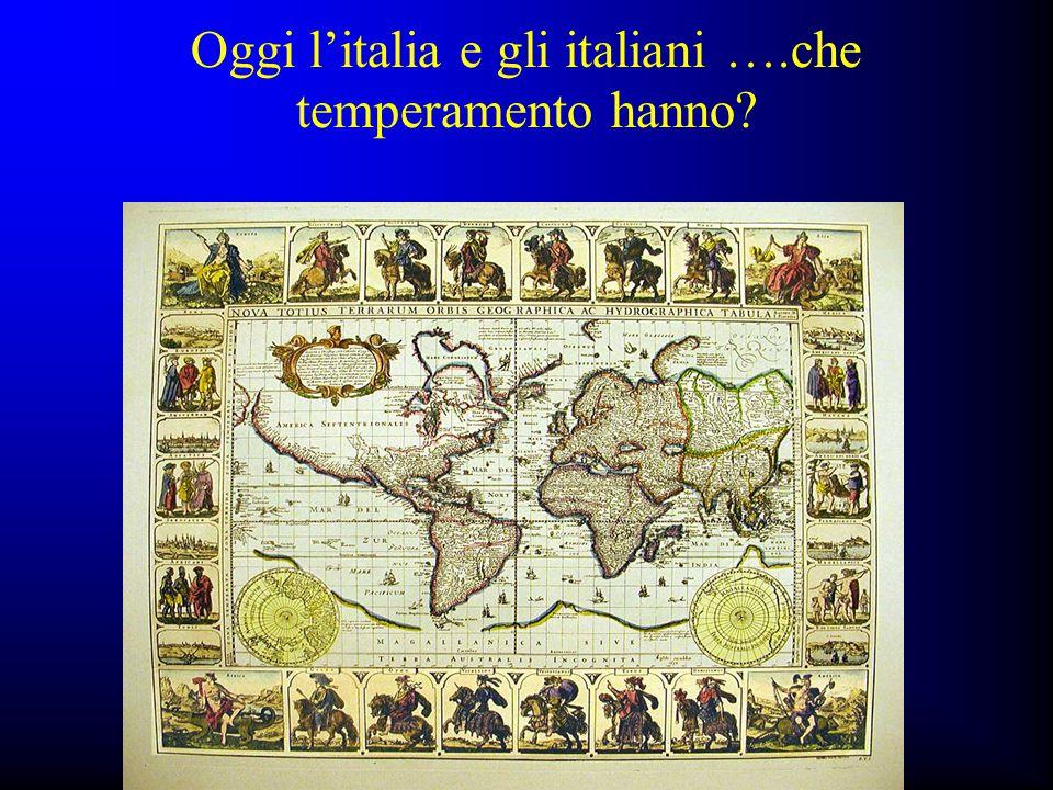 Oggi l'italia e gli italiani ….che temperamento hanno?