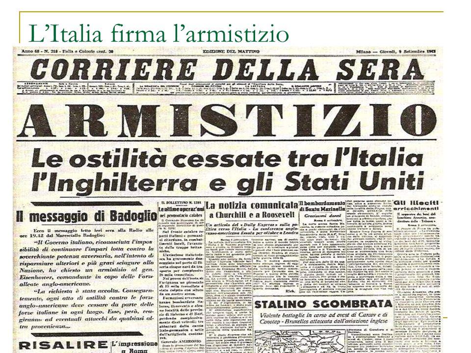 L'Italia firma l'armistizio