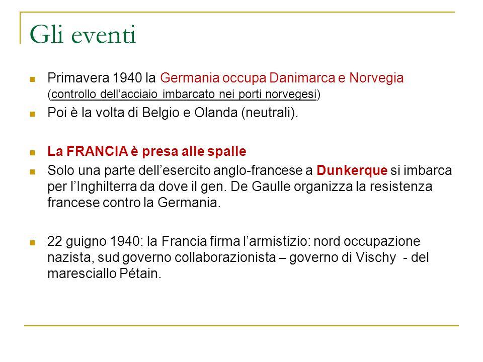 La resistenza italiana Intanto il governo Badoglio aveva dichiarato guerra alla Germania e l'Italia venne riconosciuta cobelligerante dagli Anglo-americani Richiesta di abdicazione di Vittorio E.
