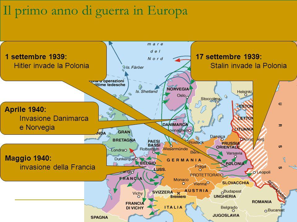 L'intervento dell'Italia 10 giugno 1940 Inizialmente la non belligeranza per: Impreparazione dell'esercito Insufficienti risorse industriali, ma … di fronte alla disfatta francese e alle fulminanti vittorie di Hitler …Mussolini vuole partecipare al tavolo della vittoria