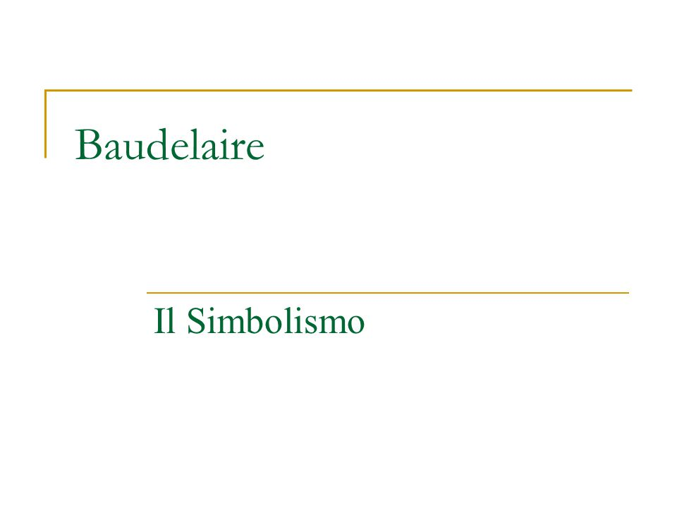 Il Simbolismo (pagg.