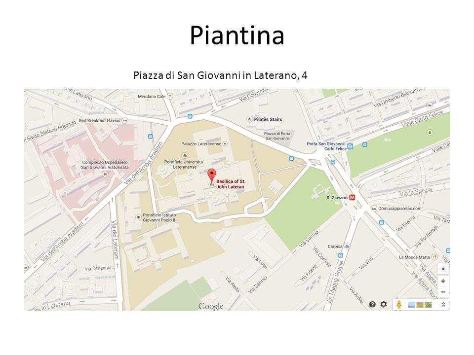 Piantina Piazza di San Giovanni in Laterano, 4