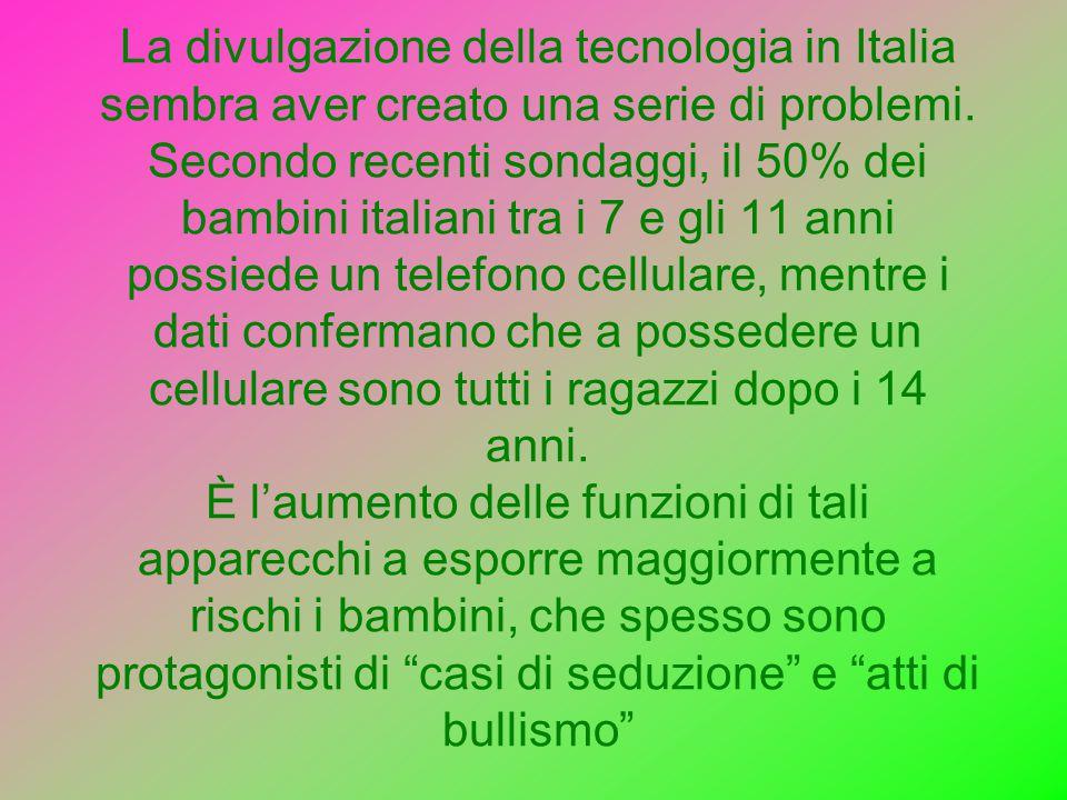 La divulgazione della tecnologia in Italia sembra aver creato una serie di problemi.