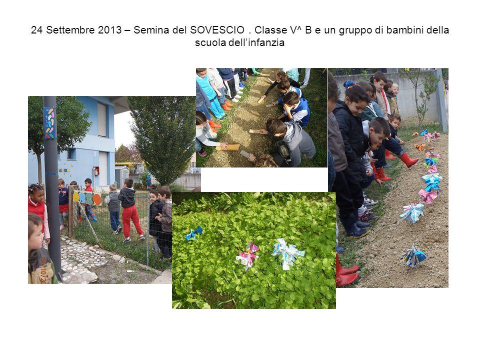 24 Settembre 2013 – Semina del SOVESCIO. Classe V^ B e un gruppo di bambini della scuola dell'infanzia