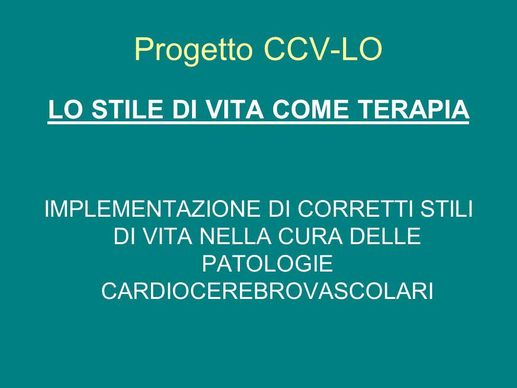 Progetto CCV-LO LO STILE DI VITA COME TERAPIA IMPLEMENTAZIONE DI CORRETTI STILI DI VITA NELLA CURA DELLE PATOLOGIE CARDIOCEREBROVASCOLARI