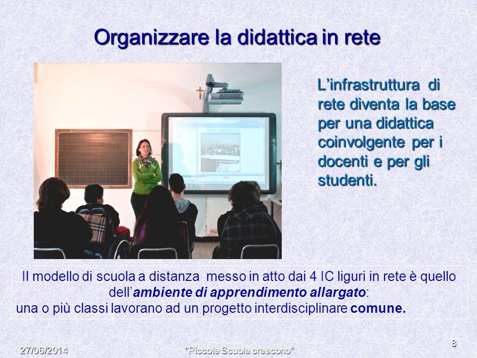 Organizzare la didattica in rete L'infrastruttura di rete diventa la base per una didattica coinvolgente per i docenti e per gli studenti. L'infrastru