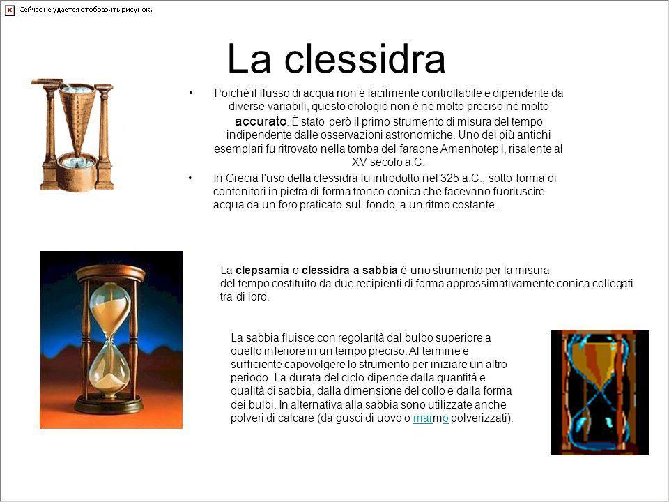 la meridiana La meridiana, detta anche più correttamente orologio solare o sciotere, è uno strumento di misurazione del tempo basato sul rilevamento della posizione del Sole.