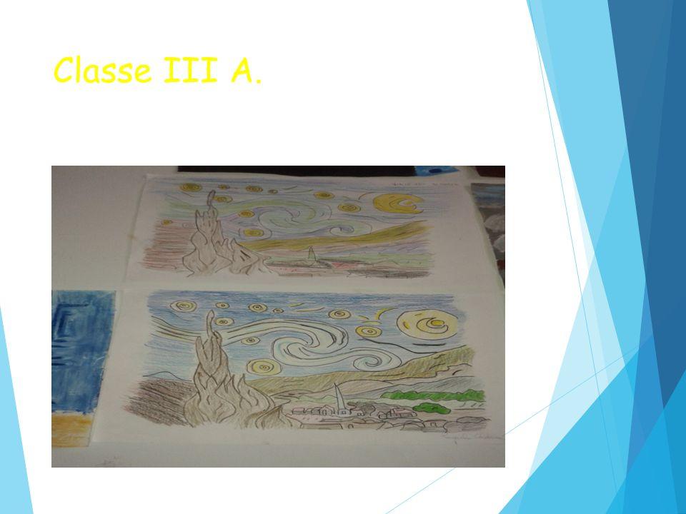 Classe III A.  La notte stellata.(Educazione Artistica)