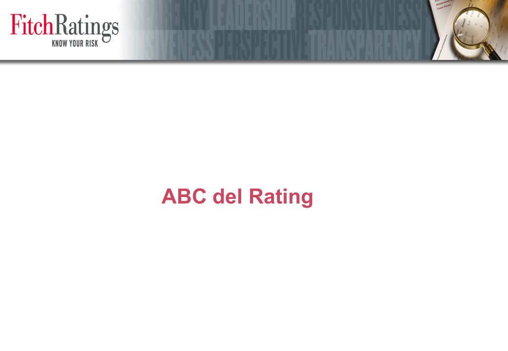 La scala di rating