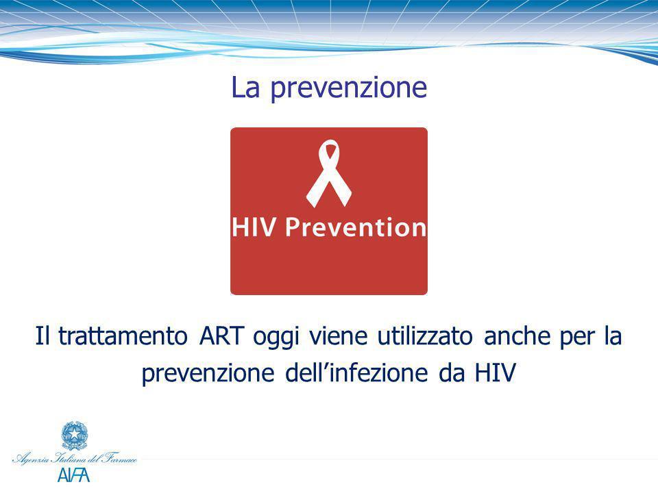 Il trattamento ART oggi viene utilizzato anche per la prevenzione dell'infezione da HIV La prevenzione