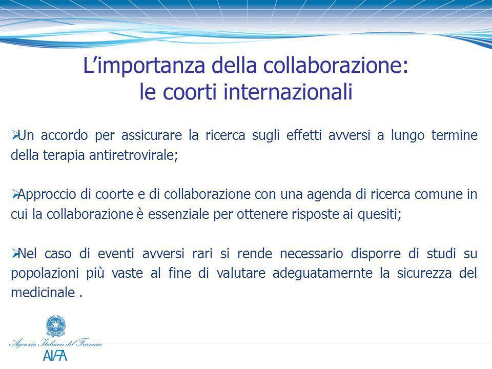  Un accordo per assicurare la ricerca sugli effetti avversi a lungo termine della terapia antiretrovirale;  Approccio di coorte e di collaborazione