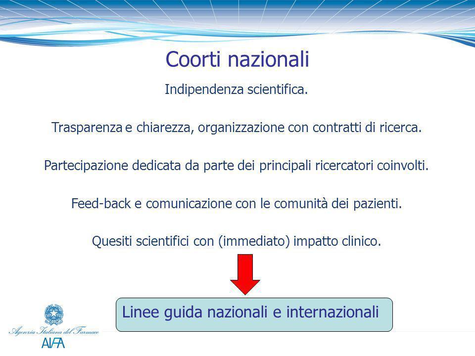 Indipendenza scientifica. Trasparenza e chiarezza, organizzazione con contratti di ricerca. Partecipazione dedicata da parte dei principali ricercator