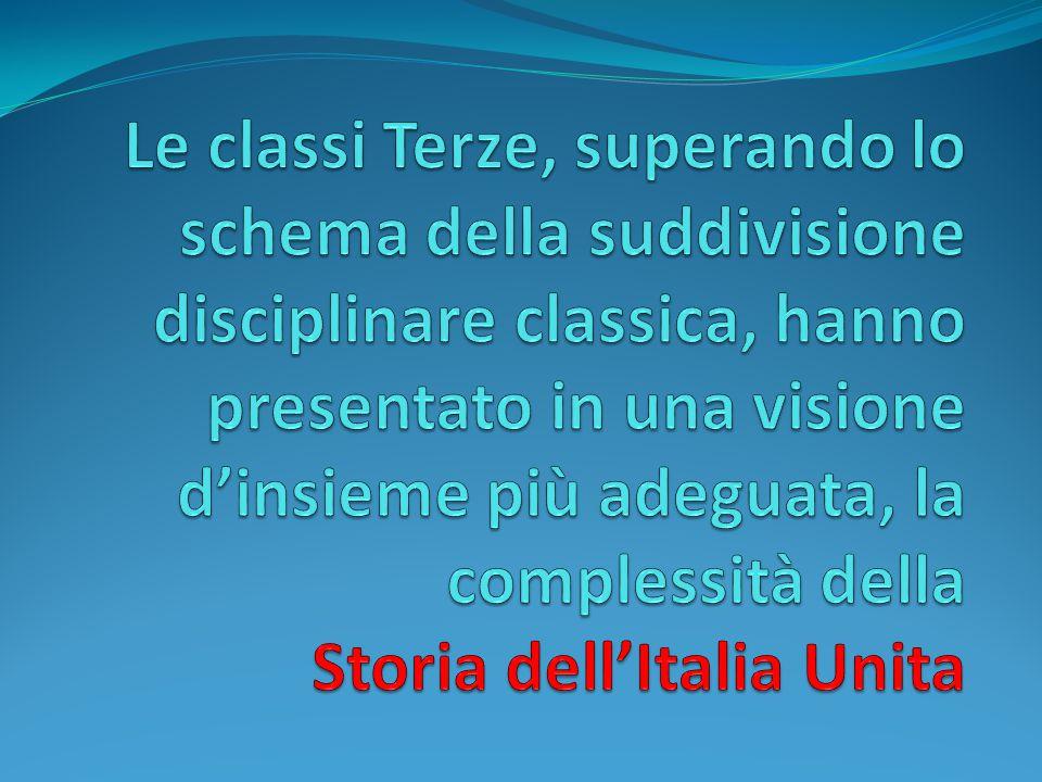 Classe Terza Sez. A La Geografia dell'Italia : dal Congresso di Vienna ( 1814/15) all'Unità (1861)