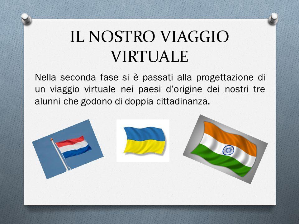 IL NOSTRO VIAGGIO VIRTUALE Nella seconda fase si è passati alla progettazione di un viaggio virtuale nei paesi d'origine dei nostri tre alunni che godono di doppia cittadinanza.