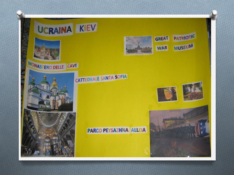 LA SECONDA TAPPA KIEV La seconda tappa è stata l'Ucraina e Kiev e si è proceduto con le stesse modalità: gli alunni hanno ricercato immagini sui luoghi di maggior interesse turistico e culturale e hanno ipotizzato un' ipotetica visita alla città alla scoperta di posti nuovi e interessanti.