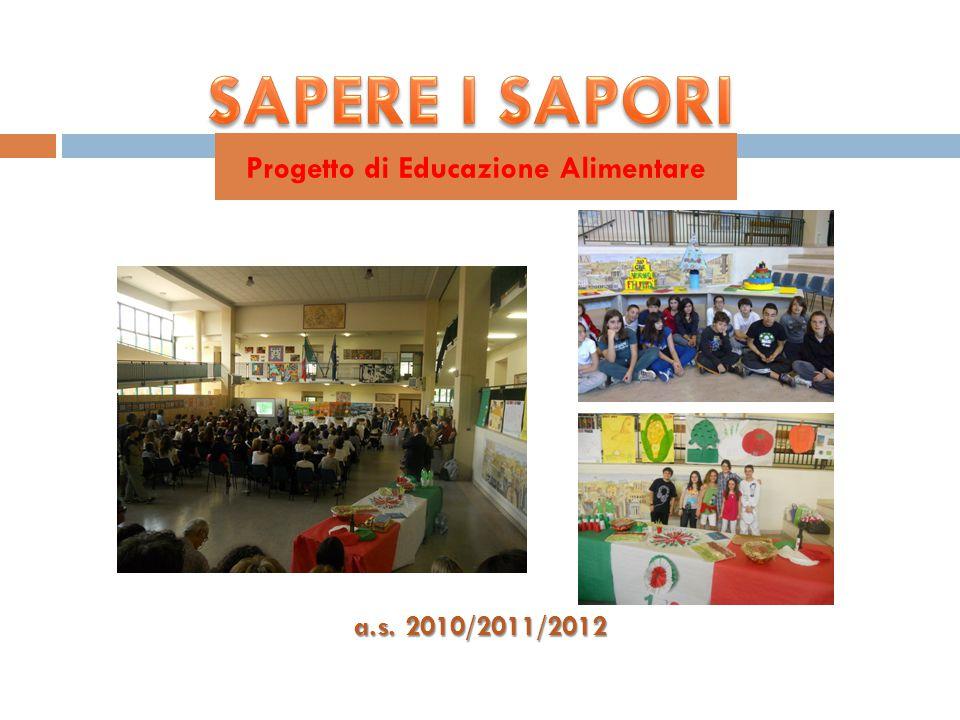 a.s. 2010/2011/2012 Progetto di Educazione Alimentare