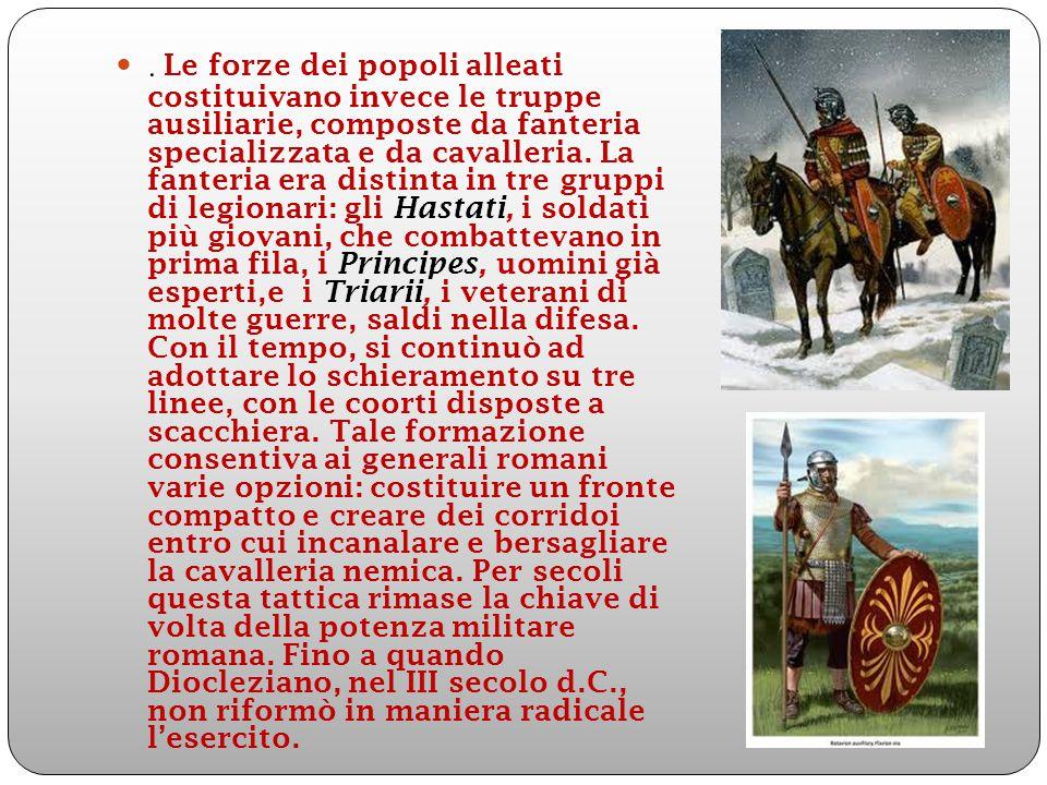 Esercito Tardo Imperiale Così, vennero costituiti eserciti di campagna sempre più mobili, formati soprattutto da cavalleria leggera e catafratta,sullo stile dei Germani e dei Persiani.