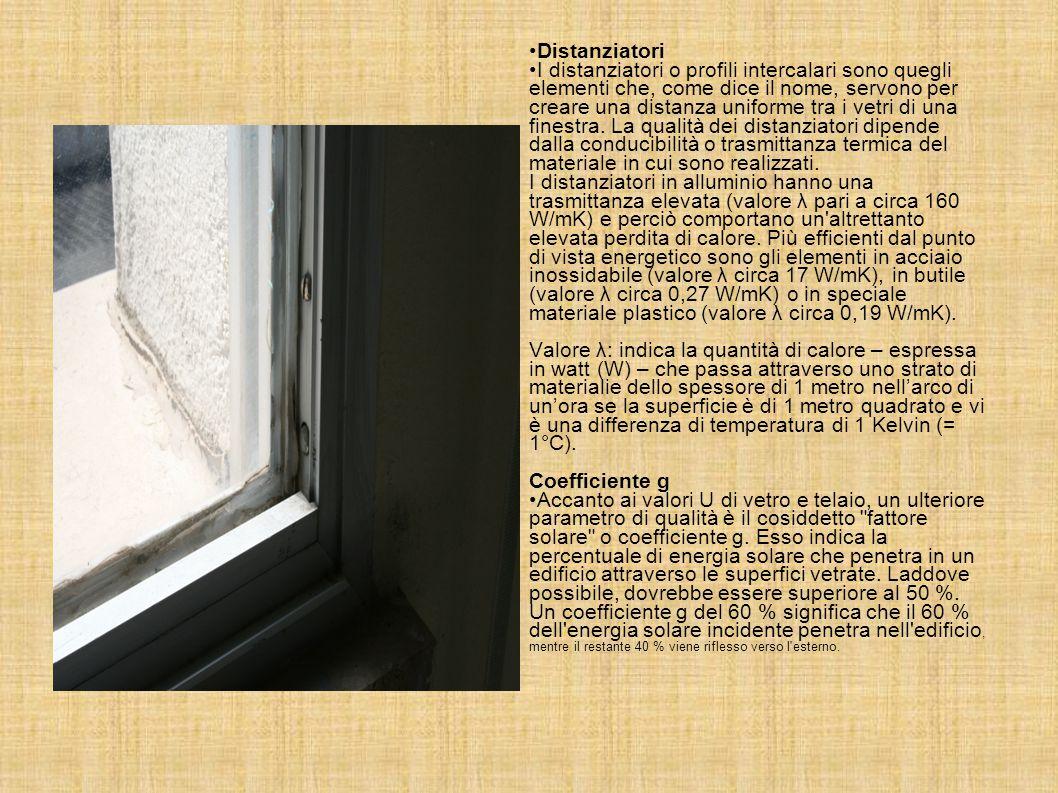 Dispersioni di calore causate dalle finestre Le finestre sono spesso all'origine di perdite di calore dovute alle loro scarse proprietà isolanti rispe