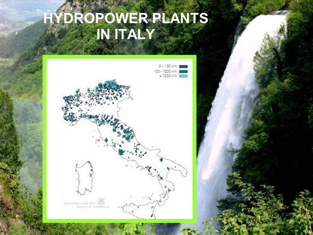 HYDROPOWER PLANTS IN ITALY
