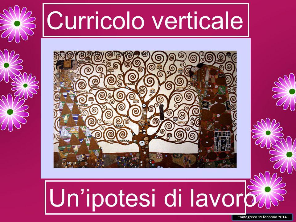 Contegreco 19 febbraio 2014 Curricolo verticale Un'ipotesi di lavoro
