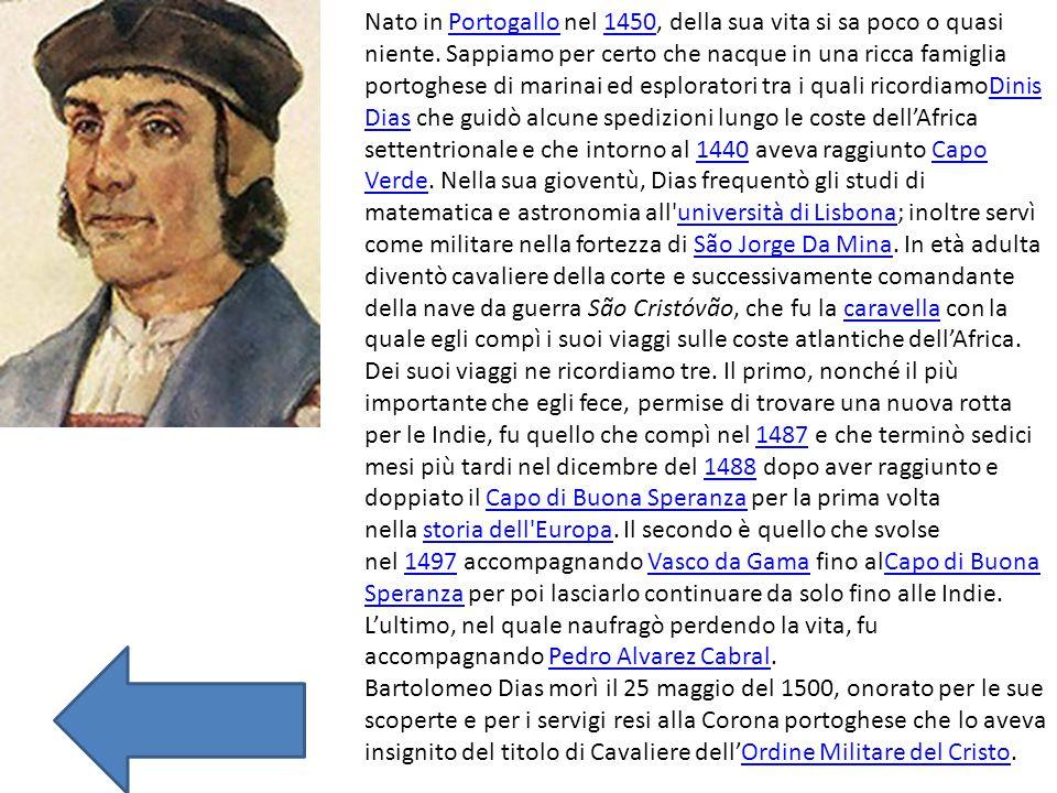 Nato in Portogallo nel 1450, della sua vita si sa poco o quasi niente. Sappiamo per certo che nacque in una ricca famiglia portoghese di marinai ed es