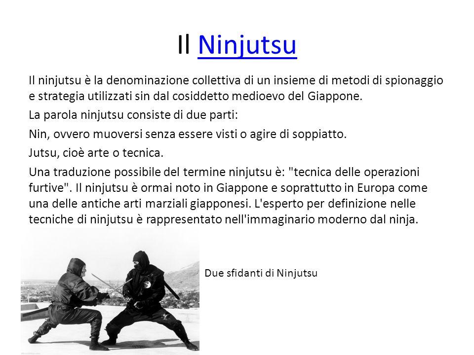 Il NinjutsuNinjutsu Il ninjutsu è la denominazione collettiva di un insieme di metodi di spionaggio e strategia utilizzati sin dal cosiddetto medioevo