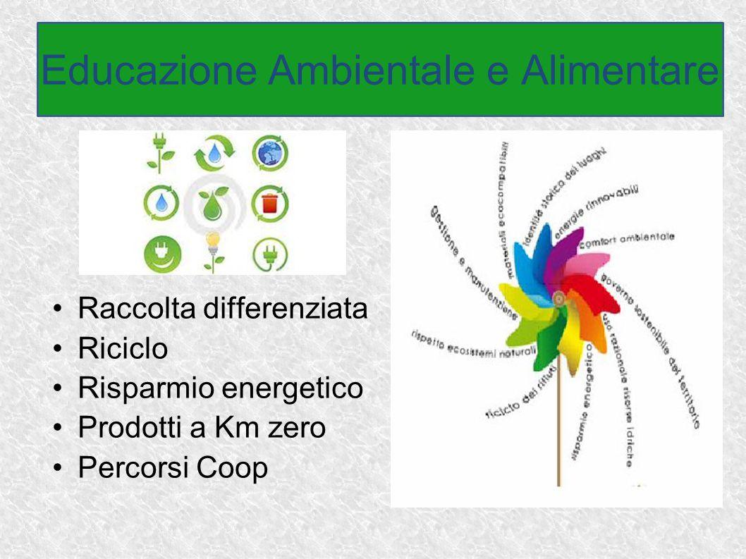 Raccolta differenziata Riciclo Risparmio energetico Prodotti a Km zero Percorsi Coop Educazione Ambientale e Alimentare