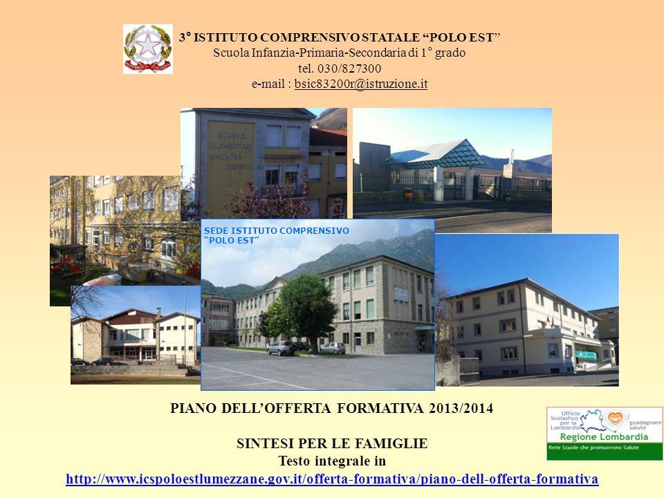 3° ISTITUTO COMPRENSIVO STATALE POLO EST Scuola Infanzia-Primaria-Secondaria di 1° grado tel.