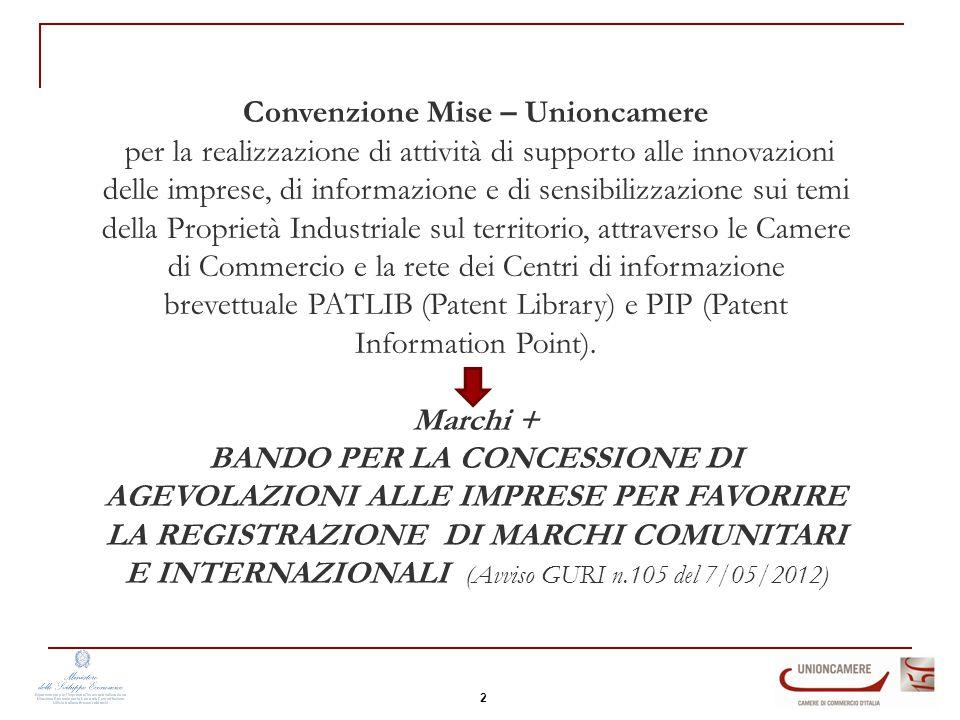Convenzione Mise – Unioncamere per la realizzazione di attività di supporto alle innovazioni delle imprese, di informazione e di sensibilizzazione sui