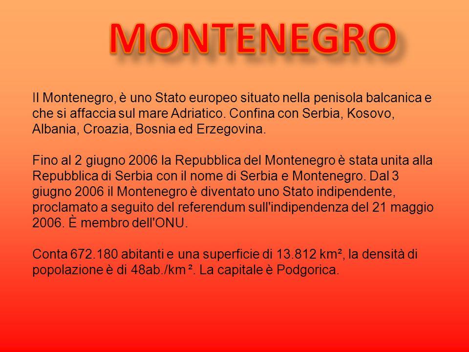 Il Montenegro, è uno Stato europeo situato nella penisola balcanica e che si affaccia sul mare Adriatico. Confina con Serbia, Kosovo, Albania, Croazia