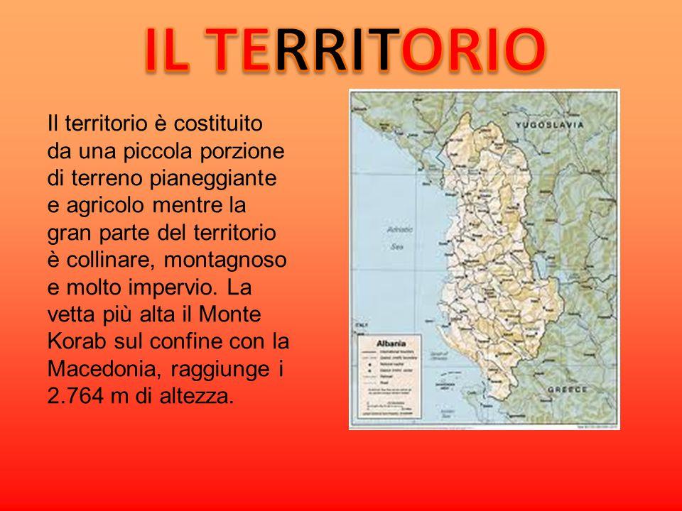 Le coste Le sue coste, bagnate dal Mare Adriatico e dalMar Ionio, misurano 363 km.