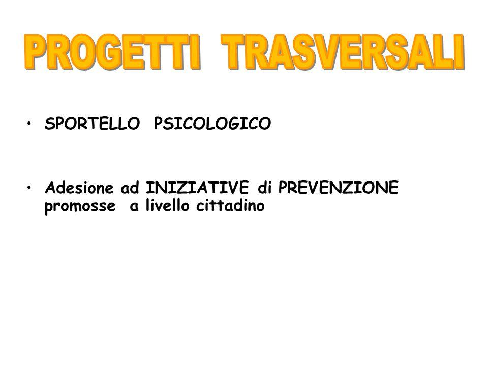 Sportello Psicologico affidato alla Dott.^ Scibilia, ex alunna, Consultorio La Casa,Regione Lombardia, gratuito.
