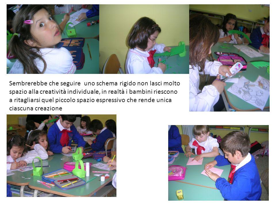 Sembrerebbe che seguire uno schema rigido non lasci molto spazio alla creatività individuale, in realtà i bambini riescono a ritagliarsi quel piccolo