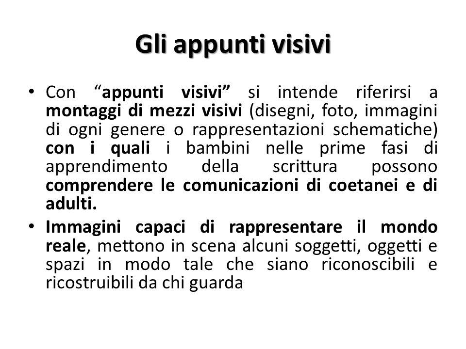 """Gli appunti visivi Con """"appunti visivi"""" si intende riferirsi a montaggi di mezzi visivi (disegni, foto, immagini di ogni genere o rappresentazioni sch"""