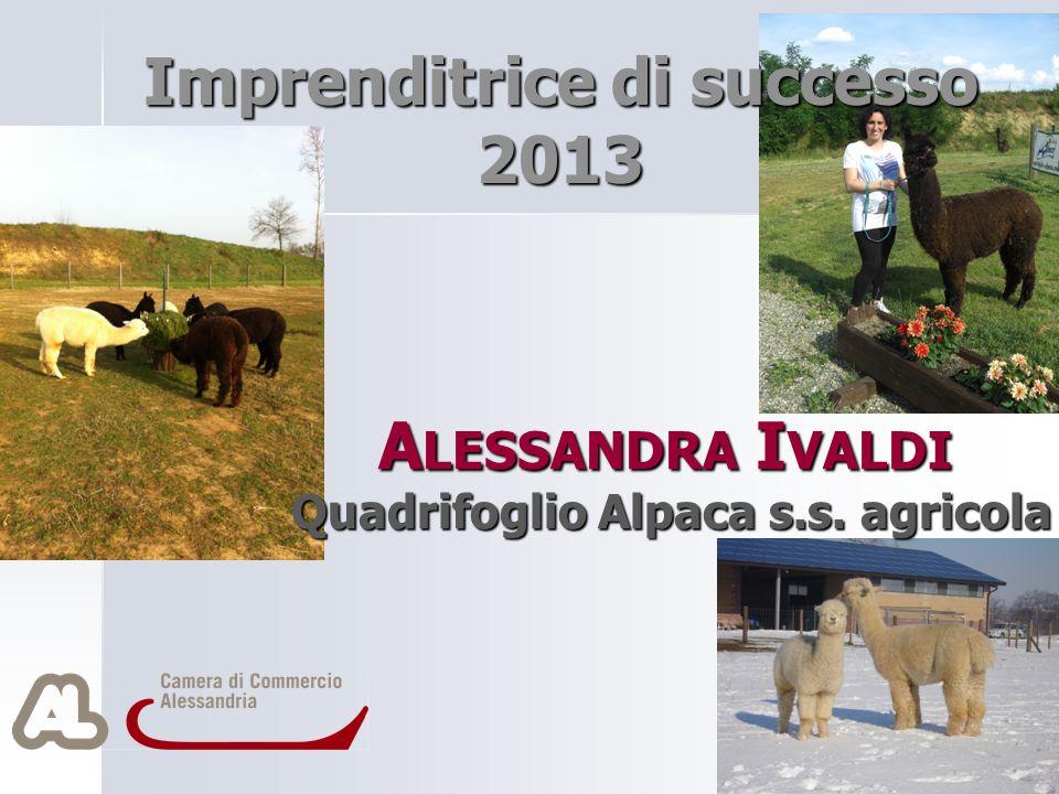 A LESSANDRA I VALDI Quadrifoglio Alpaca s.s. agricola Imprenditrice di successo 2013