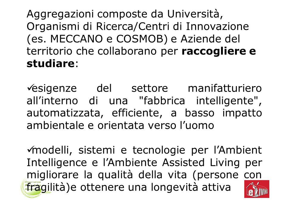 Aggregazioni composte da Università, Organismi di Ricerca/Centri di Innovazione (es.