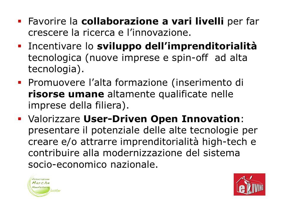  Favorire la collaborazione a vari livelli per far crescere la ricerca e l'innovazione.