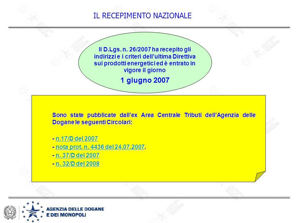 VERIFICA TECNICA: assetto fiscale impianti Assetto impianti alcool etilico: Art.