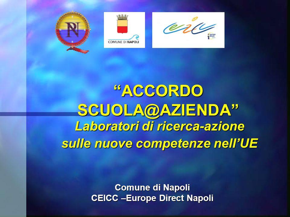 """""""ACCORDO SCUOLA@AZIENDA"""" Laboratori di ricerca-azione sulle nuove competenze nell'UE Comune di Napoli CEICC –Europe Direct Napoli"""
