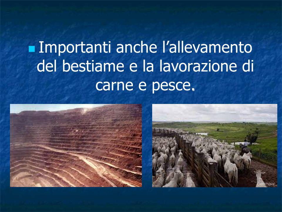 . Importanti anche l'allevamento del bestiame e la lavorazione di carne e pesce.