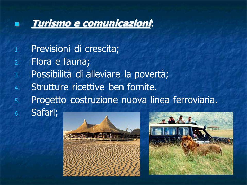 Turismo e comunicazioni: Turismo e comunicazioni: 1.